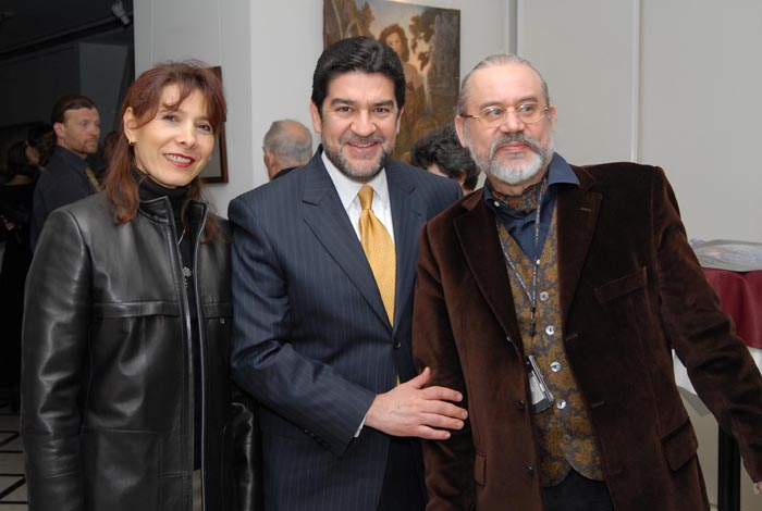 With Mexican Ambassador in Russia Alfredo Pérez Bravo and his wife Julieta Servantes