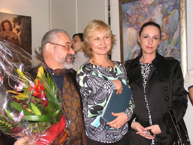 With Katia and Masha