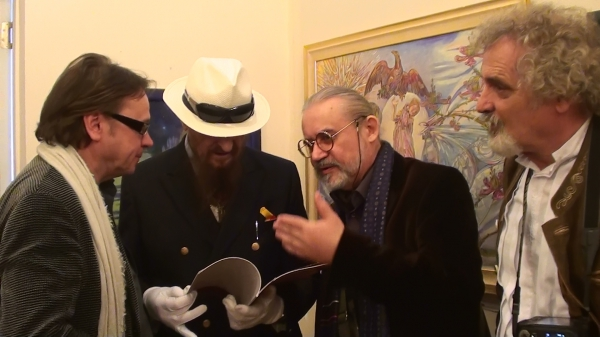 With Roman Fedchin, Ernst Fuchs and Otto Rapp