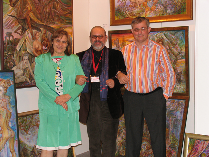 With Christiane Gugger and her impresario Michel